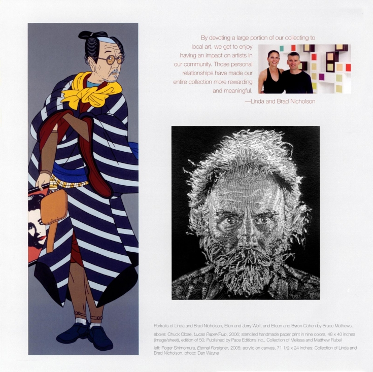 Roger Shimomura, Chuck Close inside catalog