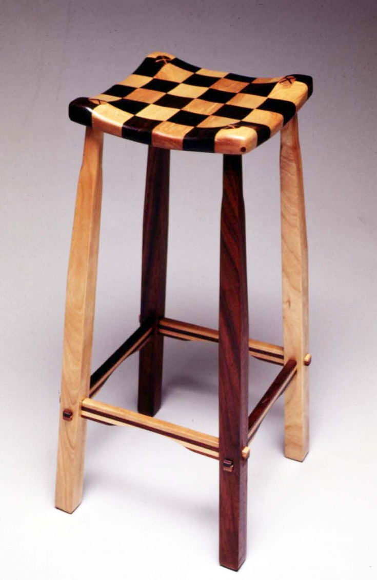 2 checker-stool