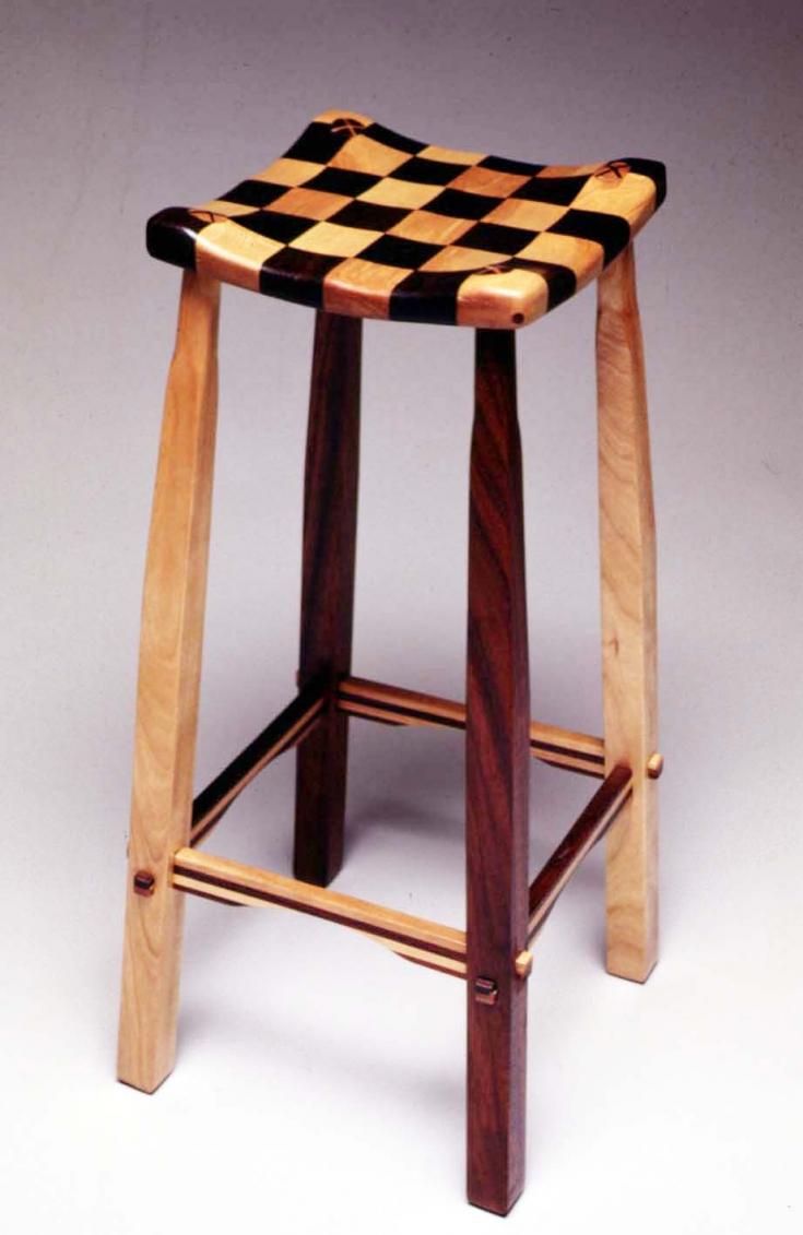 2 checker-stool