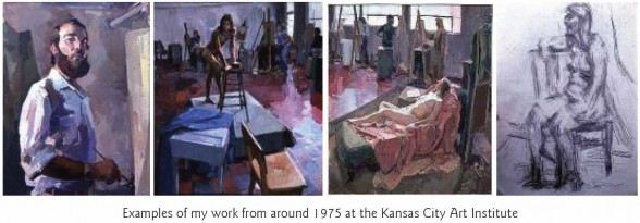 Examples of work from around 1975 at the Kansas City Art Institute