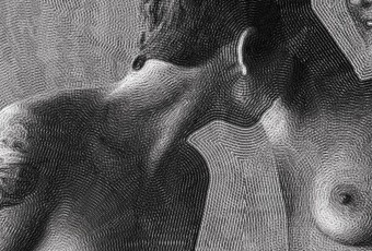 """""""Sniffing Armpit"""" 40 x 27 inches machine drawing & archival print"""