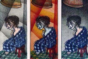 Dojo-ji Maiden woodcut